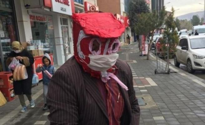 Yozgatlı Vatandaştan Virüse Karşı 'Özel' Maske: 'Bir Kat Daha Fazla Korunuyorum'