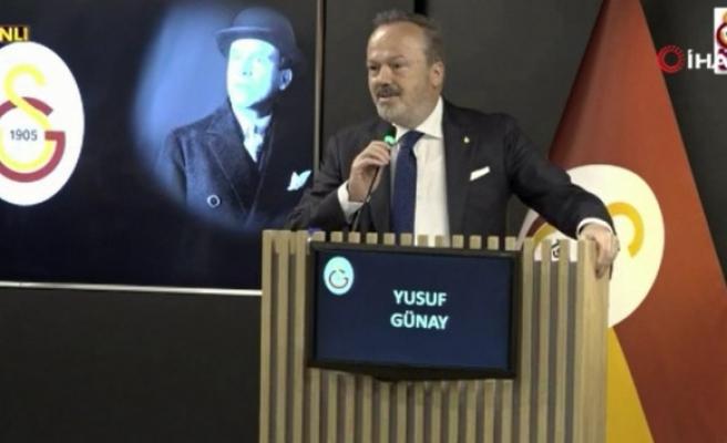 Yusuf Günay: 'Biz daha iyi bir Galatasaray'ı devretmenin mutluluğunu yaşıyoruz'