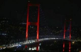 15 Temmuz Şehitler Köprüsü'nün trafiğe kapanış...