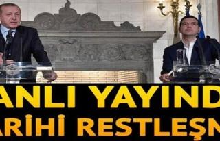 Erdoğan'dan bu kez Çipras'a canlı yayında Lozan...