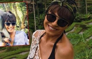 Ayşegül Aldinç Bali'de keyfine bakıyor