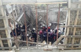 Kahramanmaraşta inşaatta göçük: 1 ölü, 5 yaralı