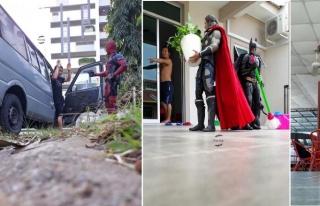 Malezyalı Sanatçı 'Wire Hon' Süper Kahramanlar...