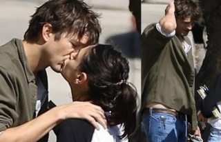 Asthon Kutcher ve Mina Kunis ilk günkü aşıklar...