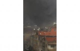 Fikirtepe'de inşaatta yangın paniği