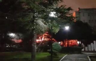 Marmara Üniversitesinde korkutan yangın