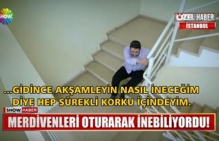 Merdiven Korkusu Yüzünden Merdivenleri Oturarak...