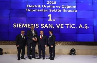 Siemens Türkiye 2018 yılında en çok ihracat yapan...