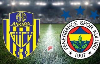 Ankaragücü - Fenerbahçe maçı hangi kanalda, saat...