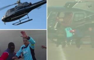Jübilesini yapan futbolcu helikopterle kaçırıldı!