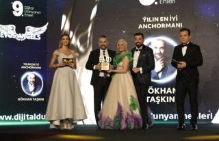 Yılın en iyi anchormanı: Gökhan Taşkın seçildi.
