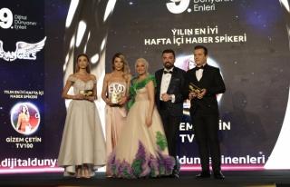 Yılın en iyi hafta içi haber spikeri: Gizem Çetin...