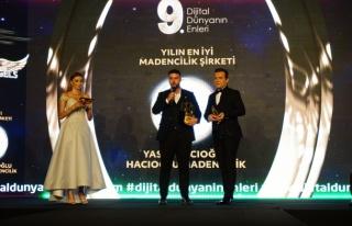 Yılın en iyi madencilik şirketi: Hacıoğlu Madencilik...