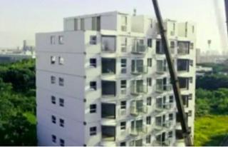 28 saatte 10 katlı bina inşa edildi