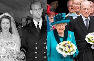 72 yıllık eşini kaybeden Kraliçe Elizabeth'in...