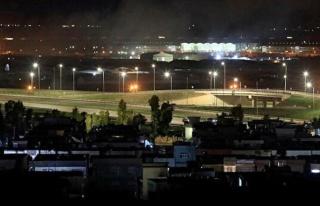 ABD askerlerinin de bulunduğu Erbil Havaalanı'na...