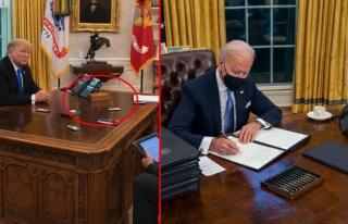 ABD Başkanı Joe Biden, Trump'ın Oval Ofis'teki...