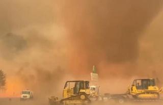 ABD'de aşırı sıcaklar felaket getirdi! Alev hortumu...