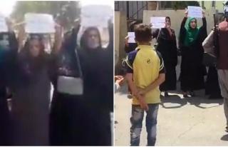 Afgan Kadınlar Kabil'de Taliban Protestolarına Başladı:...