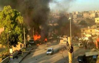 Afrin'de 11 kişinin hayatını kaybettiği bombalı...