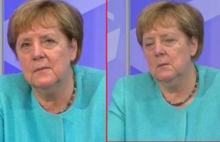 Almanya Başbakanı Merkel'in zor anları! Canlı...