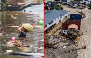 Almanya'da sel felaketi! 58 kişi yaşamını yitirdi,...
