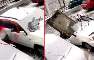 Arabanın üstüne düşen dev beton parçasından...