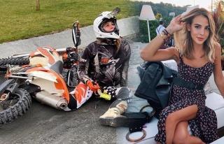 Aslışah Alkoçlar motosiklet kullanarak stres attı