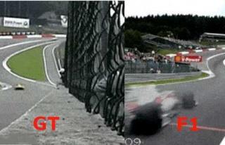 Aynı Pistte Mükemmel Mukayese: GT ve F1 Araçları...