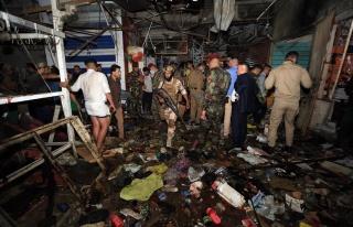 Bağdat'ta halk pazarına terör saldırısı: 33...