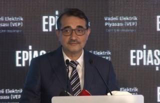 Bakan Fatih Dönmez: 'Bu yıl içerisinde Vadeli Gaz...