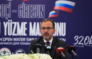 Bakan Kasapoğlu: 'Yüzücülerimizin atacağı kulaçlar...