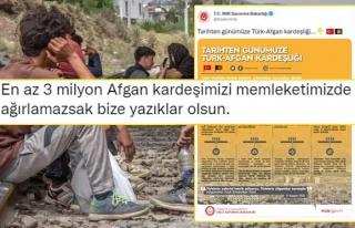 Bakanlığın 'Türk-Afgan Kardeşliği' Paylaşımı...