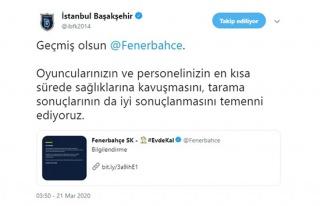 Başakşehir'den Fenerbahçe'ye geçmiş olsun mesajı