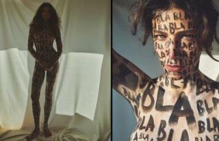 Berrak Tüzünataç Instagram'da sanat için soyundu