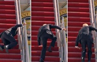 Biden uçağın merdivenlerinde düştü, Beyaz Saray'dan...