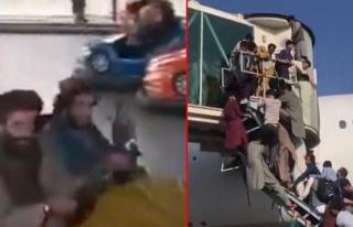 Bir köşede kaos bir köşede eğlence! Taliban militanları...