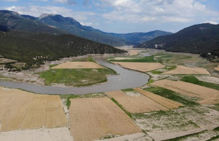 Bir zaman balık tutulan baraj şimdi tarım arazisine...