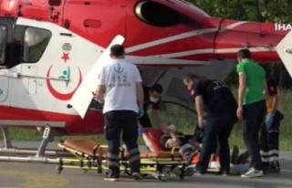 Böbrek hastasının yardımına ambulans helikopter...