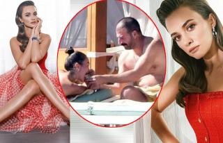 Bodrum'da tatil yapan Hande Soral, 'Şanslı kadın'...