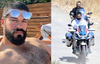 Burak Özçivit'in motosikletli alışveriş turu