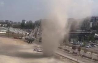 Bursa'da bir kez daha hortum paniği yaşandı