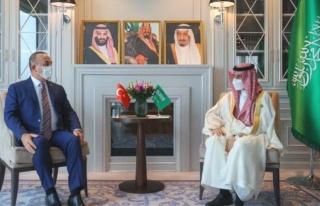 Çavuşoğlu'nun Suudi mevkidaşıyla görüşmesinde...