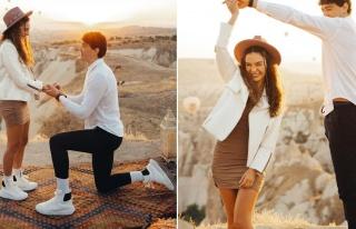 Cedi Osman'dan Ebru Şahin'e Kapadokya'da evlilik...