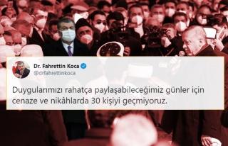 'Cenaze ve Nikâhlarda 30 Kişiyi Geçmiyoruz' Diyen...