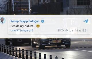 Cumhurbaşkanı Erdoğan Aşı Olduğunu Telegram'dan...