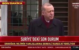 Cumhurbaşkanı Erdoğan'dan Gazeteciye: 'Çıkar...