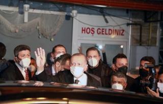 Cumhurbaşkanı Erdoğan'ın Konvoyuna Memleketi Rize'de...