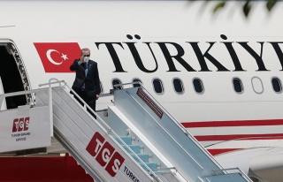 Cumhurbaşkanı Erdoğan Kuzey Kıbrıs Türk Cumhuriyeti'ne...
