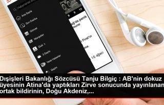 Dışişleri Bakanlığı Sözcüsü Tanju Bilgiç...